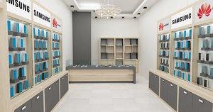 phone store 3D model