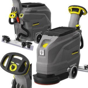 3D walk-behind floor scrubber bd