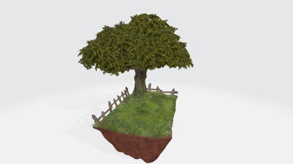 countryside diorama 3D model