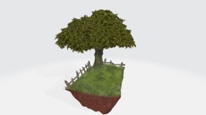 countryside diorama 3D model