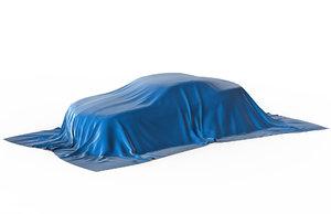 car covered cloth 3D model