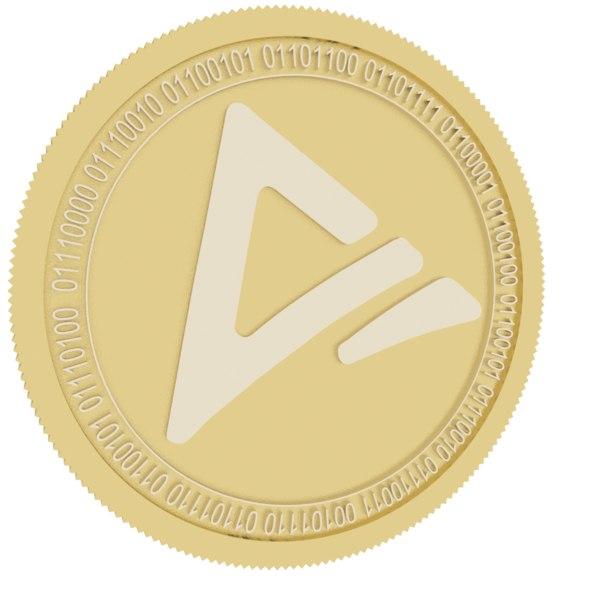 atn gold coin 3D model