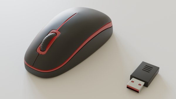 3D blender mouse model