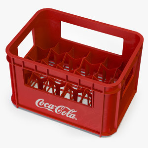 3D plastic coke crate 24x model