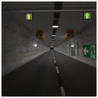 road tunnel scene 3D model