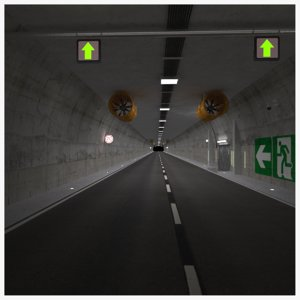 road tunnel scene 3D model
