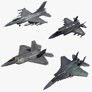 fighters usaf 3D model