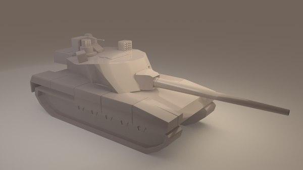 tank armata 3D model