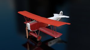 3D model fokker m7 aircraft