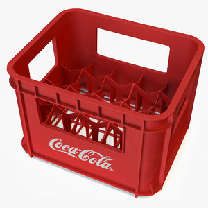 plastic coke crate 20x 3D