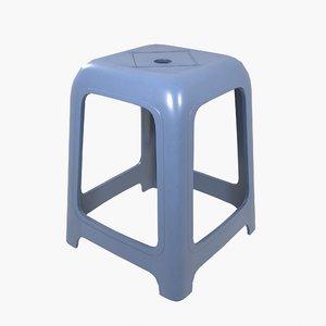 3D plastic stool