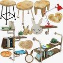 loft furniture accessories v1 3D model