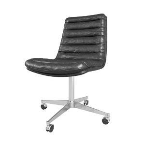 3D malibu desk chair model