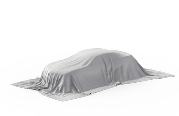 car covered white cloth 3D