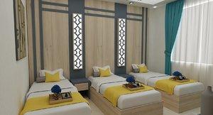 hotel room rte 3D model