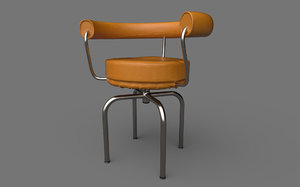 3D iconic cassina lc7 chair model