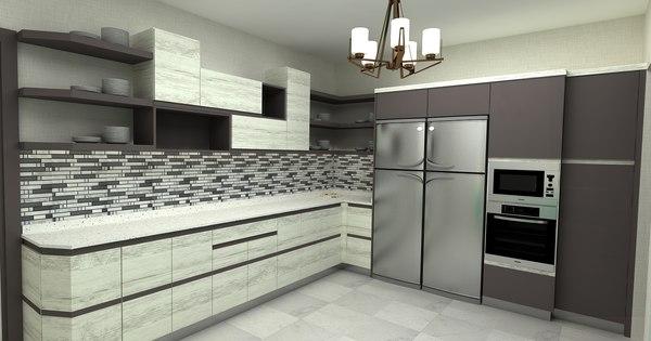 3D model kitchen apl