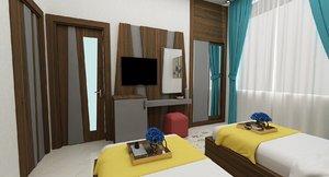3D model hotel room fr