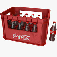 3D coke crate bottles model