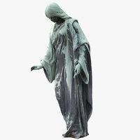 bronze figure feathe model
