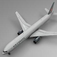 3D air canada boeing 777-300er