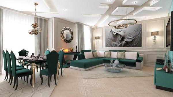 classic apartment environment xalqlar 3D model