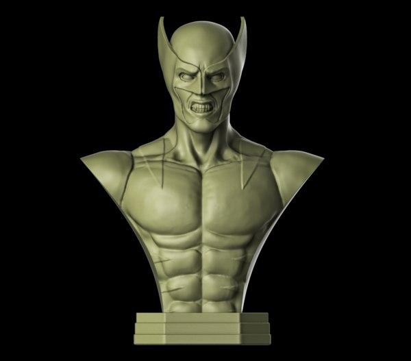 wolverine sculpture model