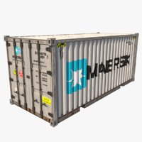 shipping container 1 teu 3D model