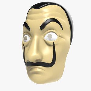 3D casa del papel mask model