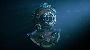 3D ocean diving helmets model