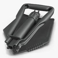 3D gi military entrenching shovel