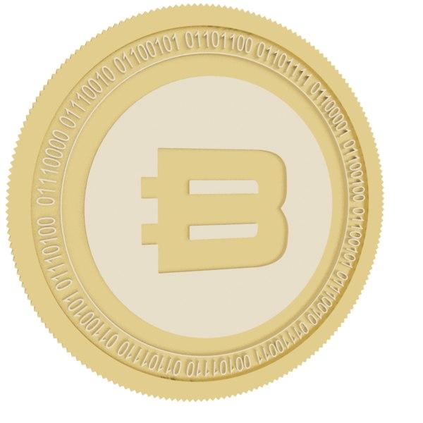 3D bitbook gold coin model