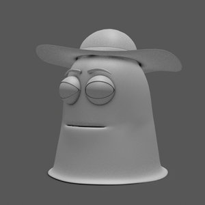 abstract character model