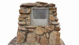 3D stone memorial