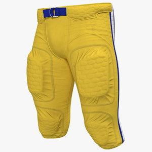 american football player pants model