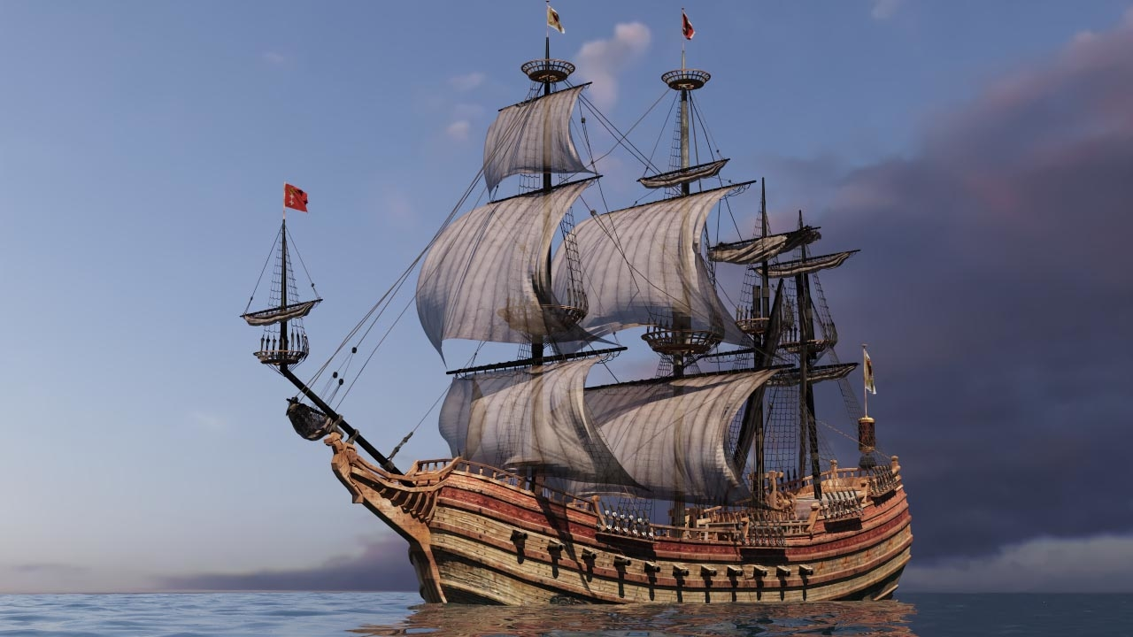 galleon ship model