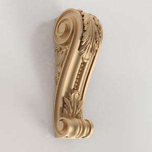 3D baroque console model