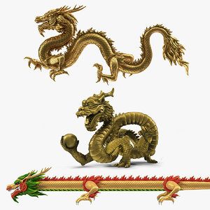 3D chinese dragons 2