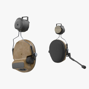 headset tactical helmet military 3D model