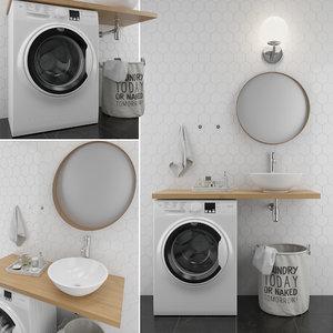 bathroom 1 set 3D model