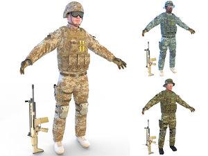 soldier 4k model