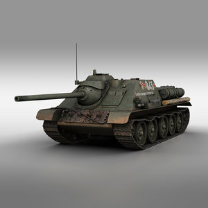su-85 - self-propelled gun 3D model