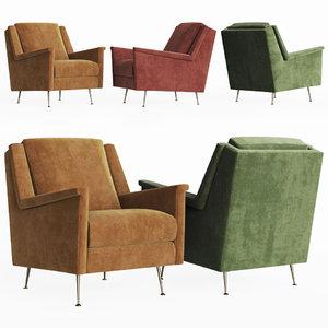 carlo mid-century chair west model