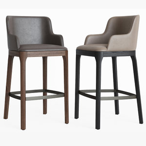 3D model magda seating barstool cattelanitalia
