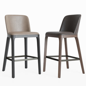 3D model magda seating barstool cattelan