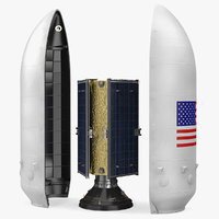 3D payload fairing communications satellite