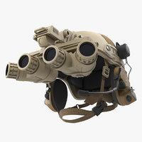 tactical helmet sand camo desert 3D model