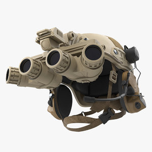 tactical helmet sand camo desert 3D model