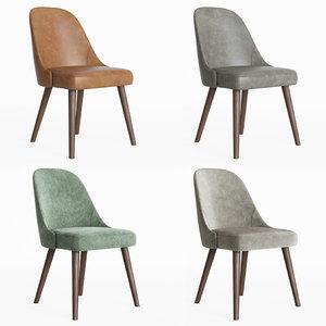 west elm mid-century chair 3D model