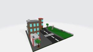 city scene 3D